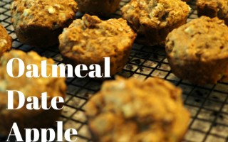 Oatmeal Date Apple Muffins