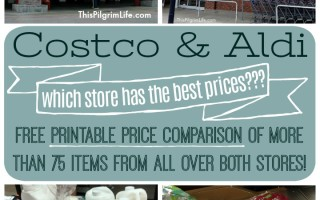 Updated Costco and Aldi Price Comparison