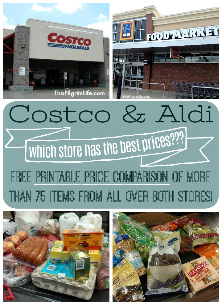 Updated Costco and Aldi Price Comparison