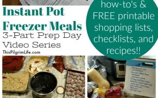 Instant Pot Freezer Meal Prep Day Recap