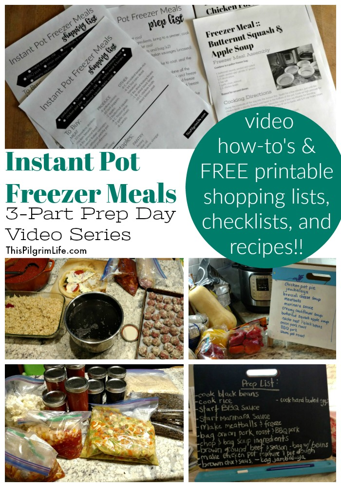 Instant Pot Freezer Meal Prep Day Recap