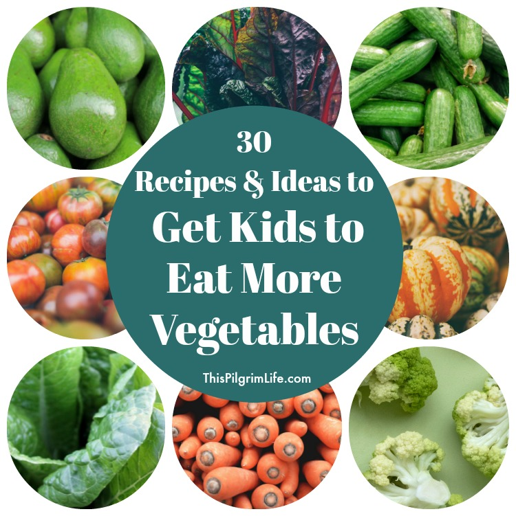 Everyone knows that we should all be eating more vegetables everyday, but sometimes that is easier said than done! Use these 30 recipes and ideas to get even picky kids to eat more vegetables in their daily diet!