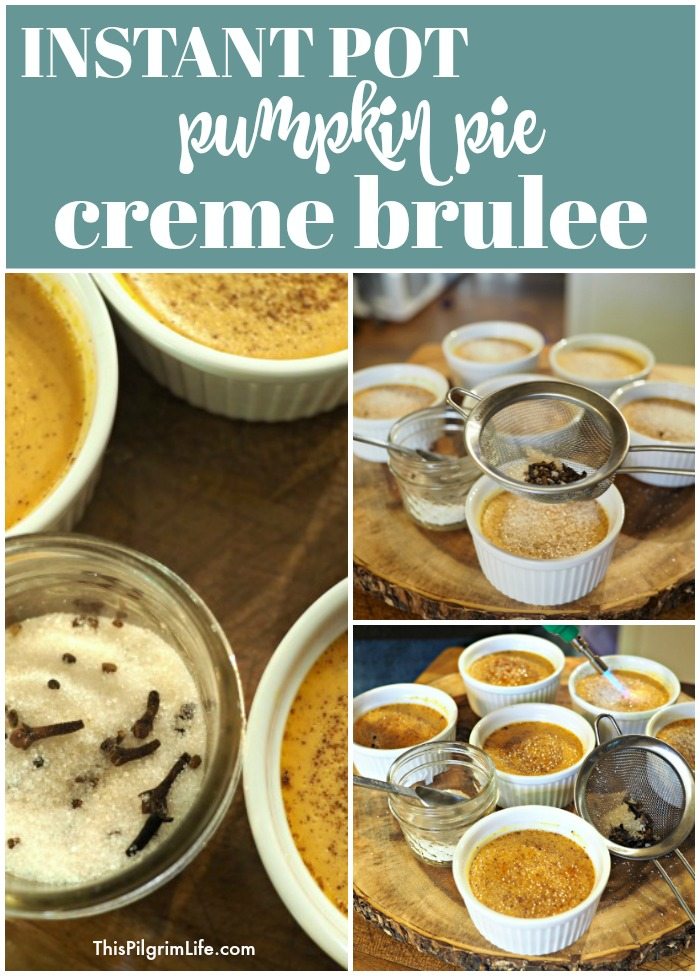 Instant Pot pumpkin pie creme brûlée is so quick and easy to make, and is an AMAZING Fall treat!