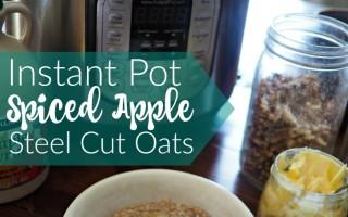 Spiced Apple Steel Cut Oats in the Instant Pot