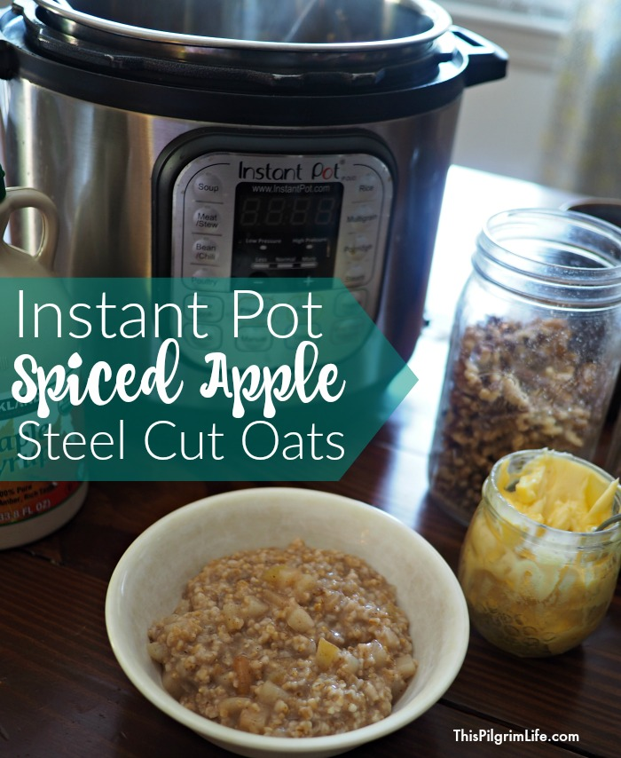 Steel cut oats in the Instant Pot are so easy to prepare and make a wonderfully warm and filling breakfast! Give plain oats a fragrant, sweet twist with spices and chopped apples!