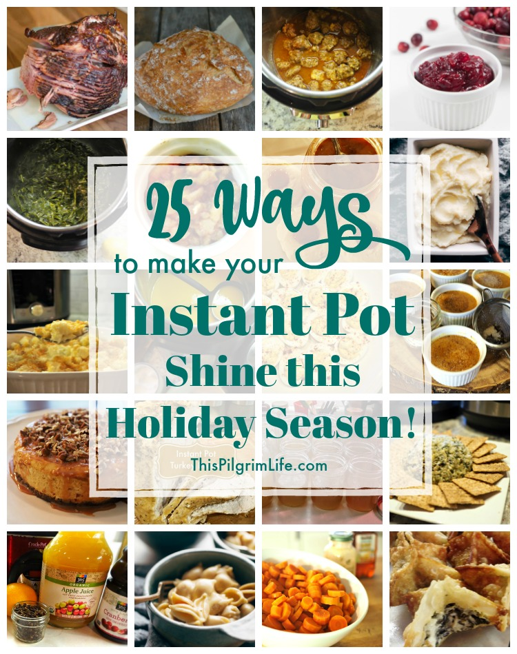 Use your Instant Pot for prepping ingredients, making appetizers, cooking the main dish and sides, AND making amazing desserts this holiday season!
