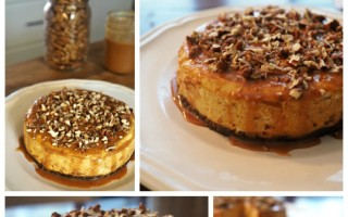 Instant Pot Sweet Potato Cheesecake with Dulce de Leche and Pecans