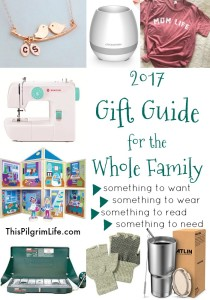 Get new ideas for what to buy everyone on your list with this year's family gift guide! Something to wear, something to read, something to want, and something to need for the kids, mom, dad, and the family as a whole!