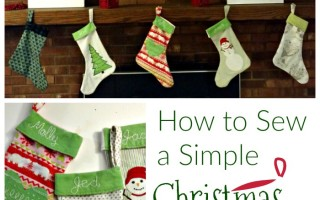 How to Sew A Simple Christmas Stocking