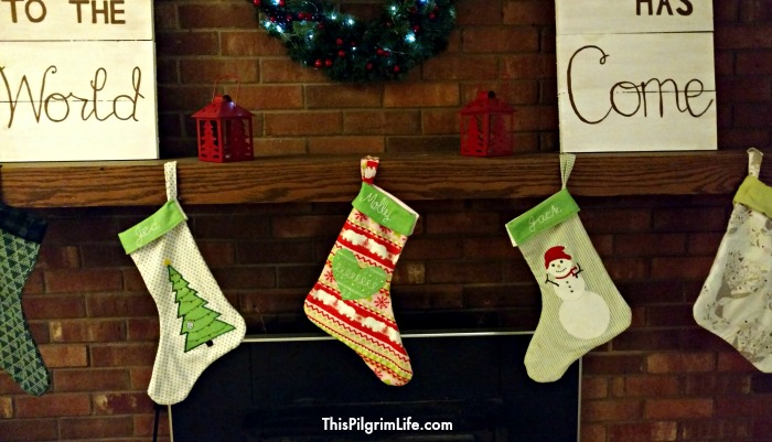 Make and personalize simple Christmas stockings to hang and fill in your home!