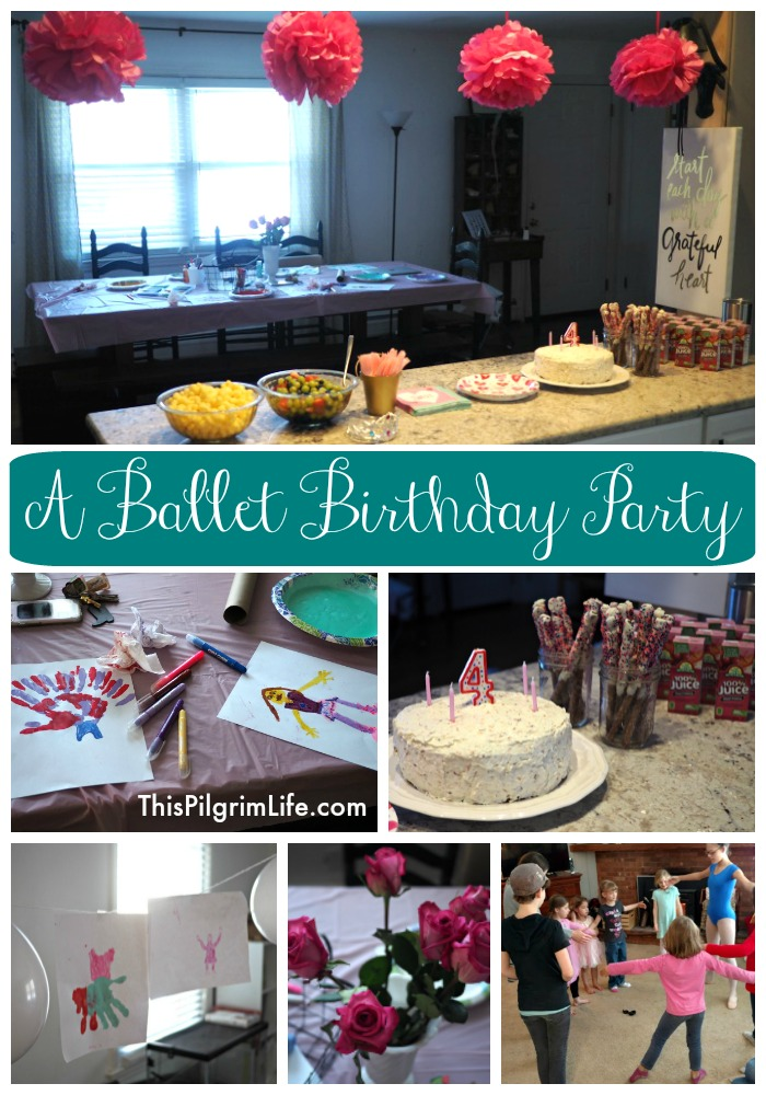 Ballet Party for a Happy Fourth Birthday