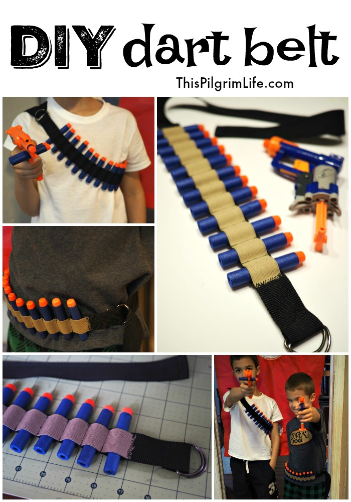 Keep all your darts in reach for your next nerf battle with this DIY dart belt! A quick and easy project for any sewing level!