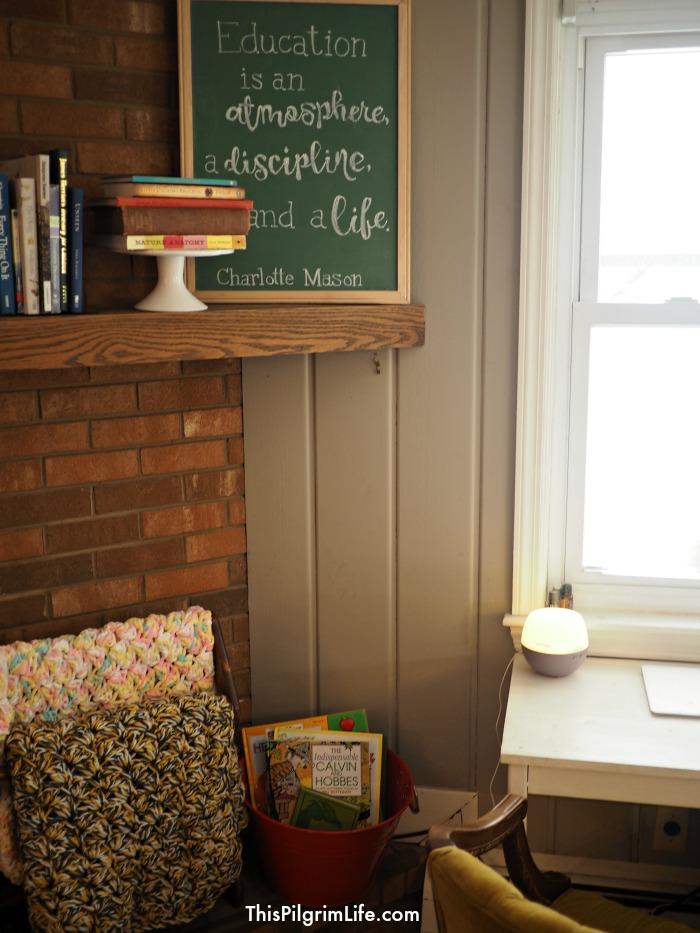 homeschool hygge mantle