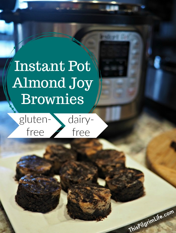 Rich, chocolate brownies with a hint of coconut and swirls of almond butter. Conveniently and easily cooked in your Instant Pot.
