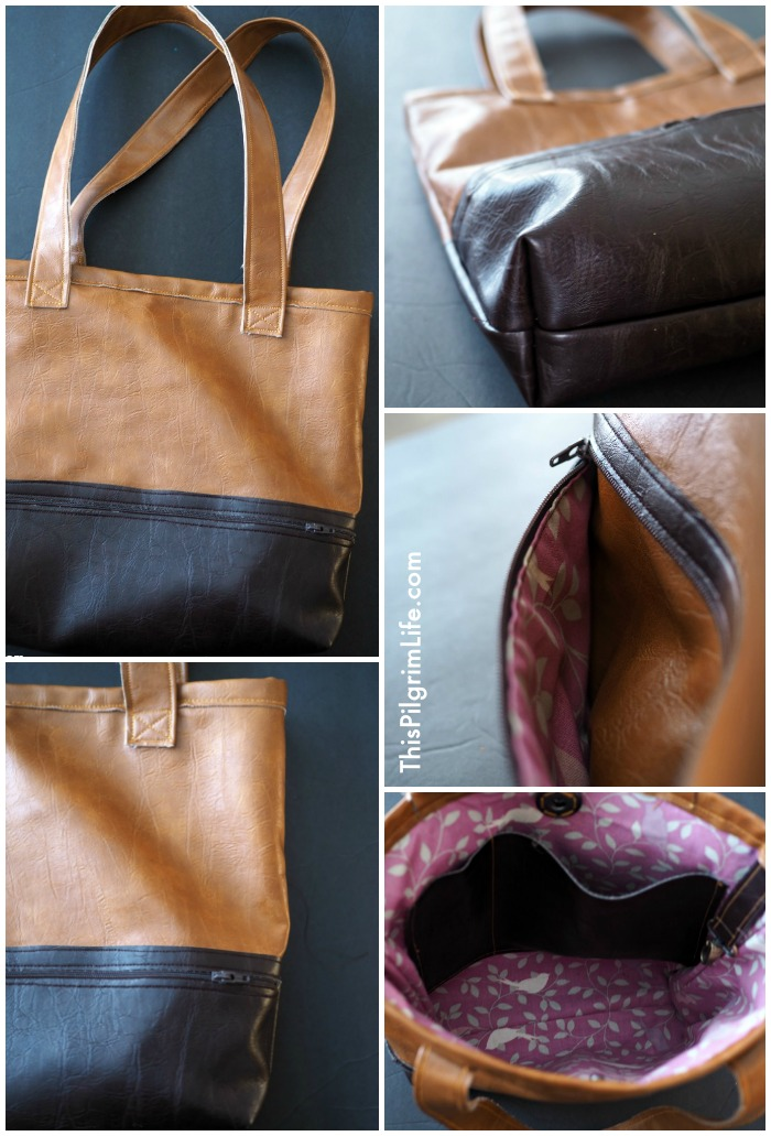 Make a new bag for the season! This two toned tote bag is the perfect go-with-everything, durable, stylish purse!