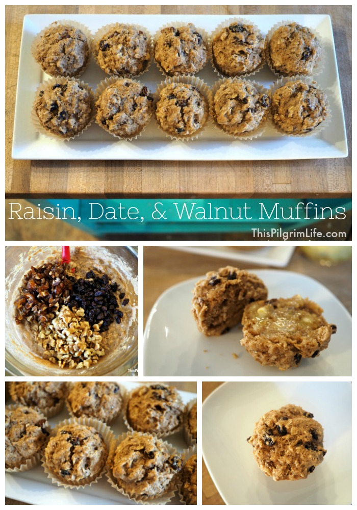 Raisin, Date, & Walnut Muffins