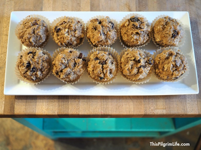 Raisin, Date, & Walnut Muffins