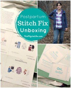 Here is my latest Stitch Fix unboxing-- I asked for postpartum friendly clothing...let's see how they did!