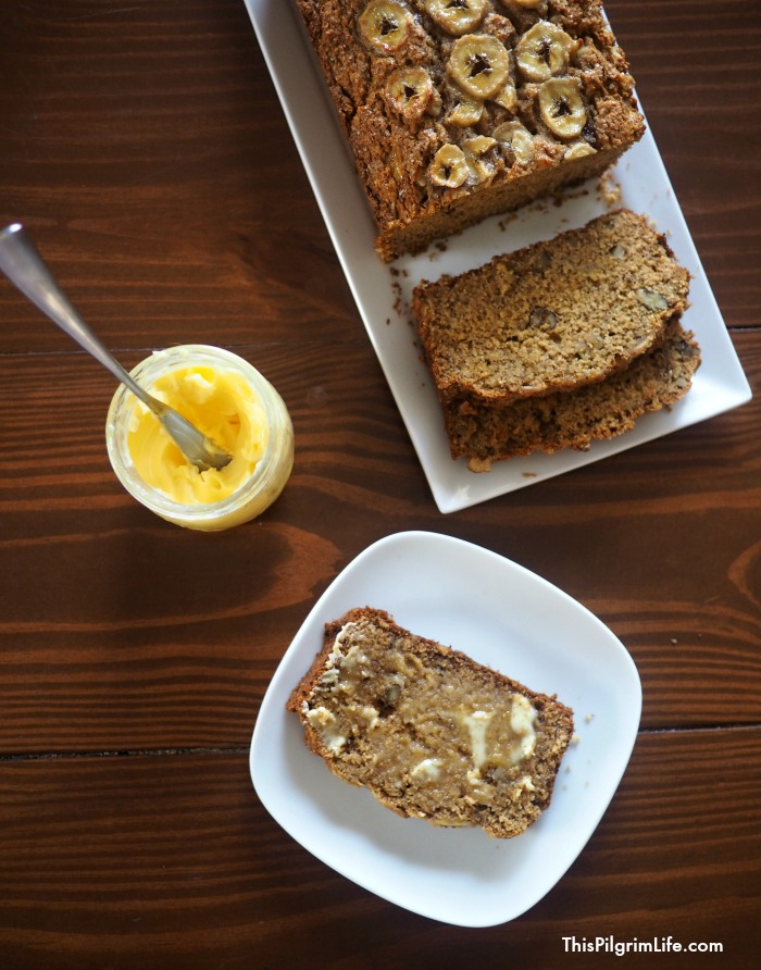 Enjoy a loaf of homemade banana bread for breakfast, lunch, or an afternoon snack! It's easy to make, full of delicious banana flavor, and rich in vitamins and minerals!