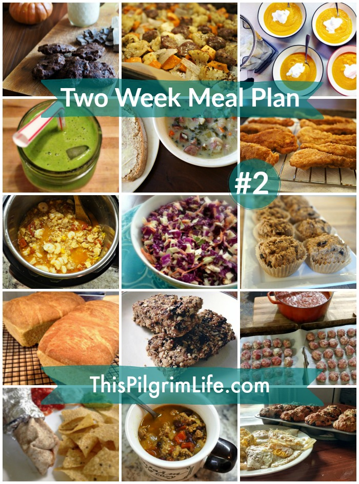 My meal plan for breakfast, lunch, and dinner for the next two weeks!