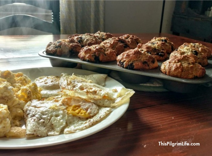 eggs and muffins