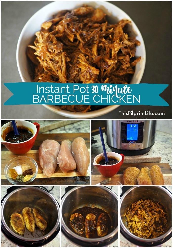 Instant Pot 30 Minute Barbecue Chicken