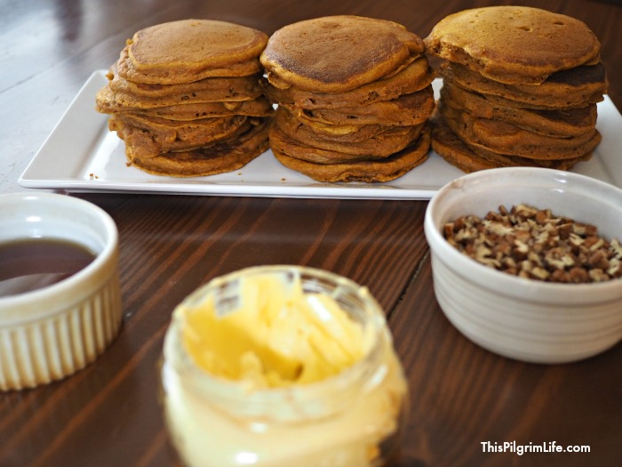 Pumpkin pancakes are a nutritious and delicious way to start the day!!