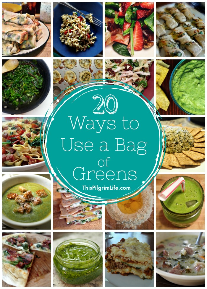 20 Ways to Use A Bag of Greens
