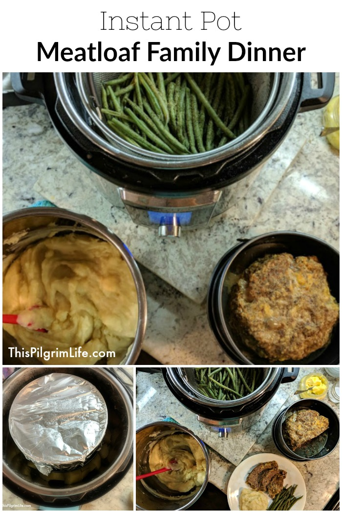 Instant Pot Meatloaf Family Dinner