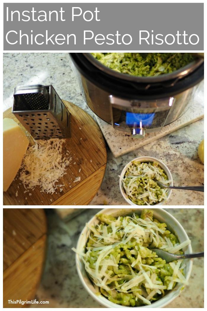 Instant Pot Chicken Pesto Risotto
