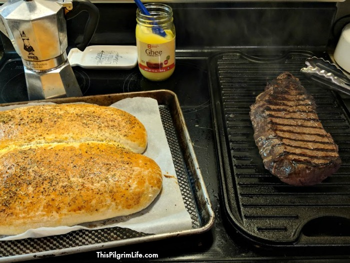 Cook a London broil on a cast iron griddle for an amazing and budget-friendly steak dinner at home! Easy enough for a weeknight meal, delicious enough for a dinner with friends!