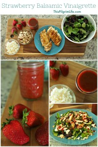 This strawberry balsamic vinaigrette is the PERFECT summer salad dressing! Even better if you make it with farm or garden fresh strawberries!