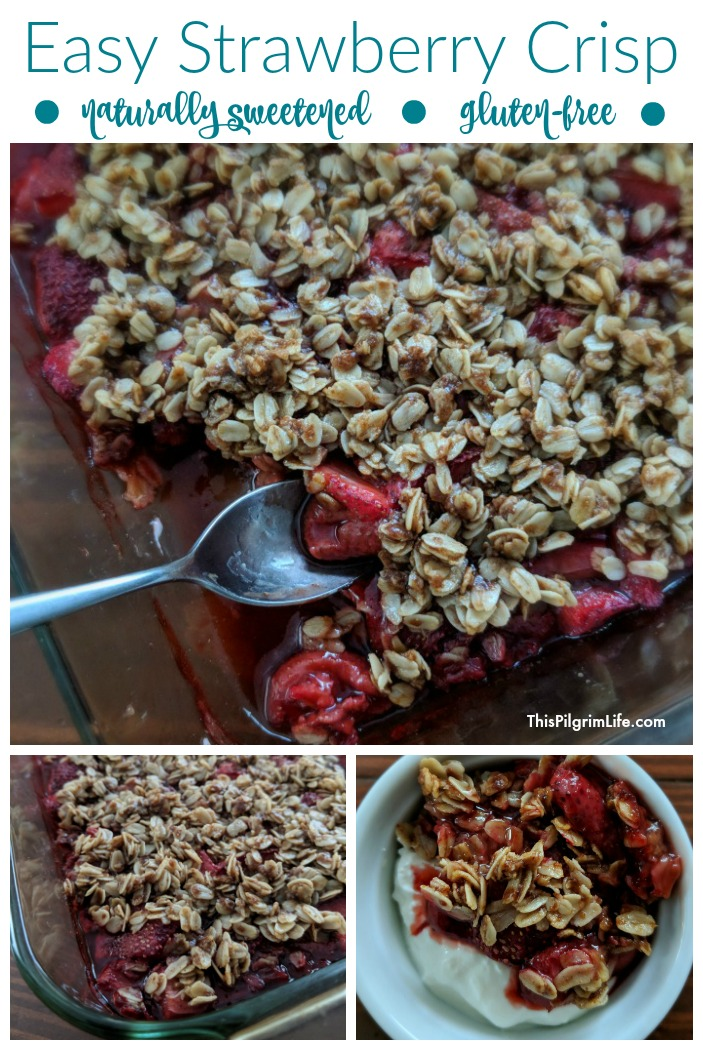 Easy Strawberry Crisp (Naturally Sweetened & Gluten-Free)