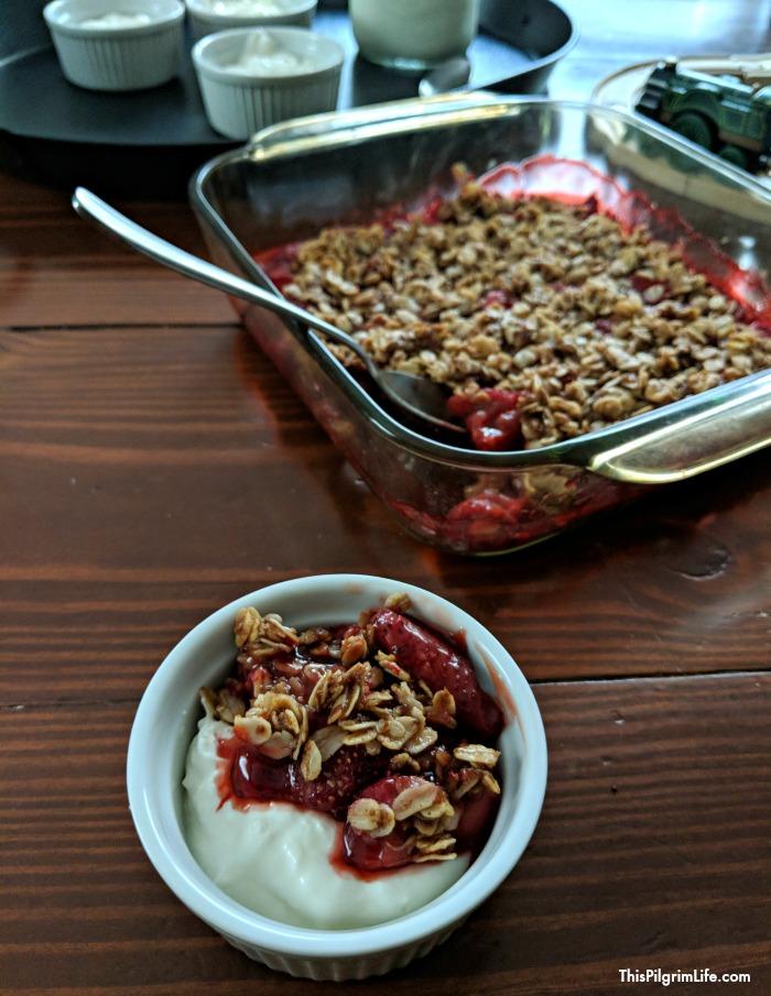 Easy Strawberry Crisp (Naturally Sweetened & Gluten-Free)