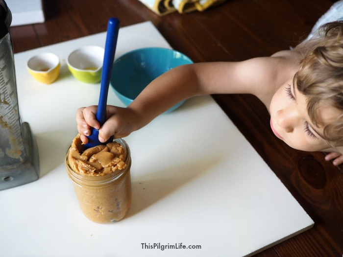 Smooth and creamy and oh-so-DELICIOUS peanut butter. This homemade peanut butter is very easy to make and is so much tastier than store-bought versions!