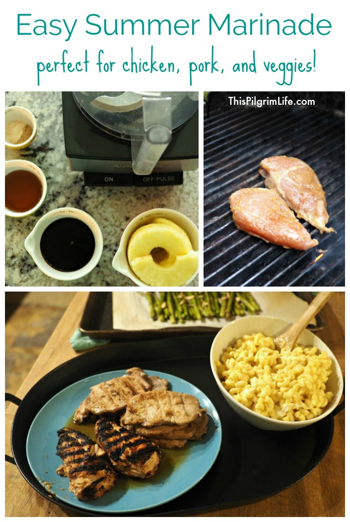 Easy Summer Marinade for Chicken, Pork, & Veggies!