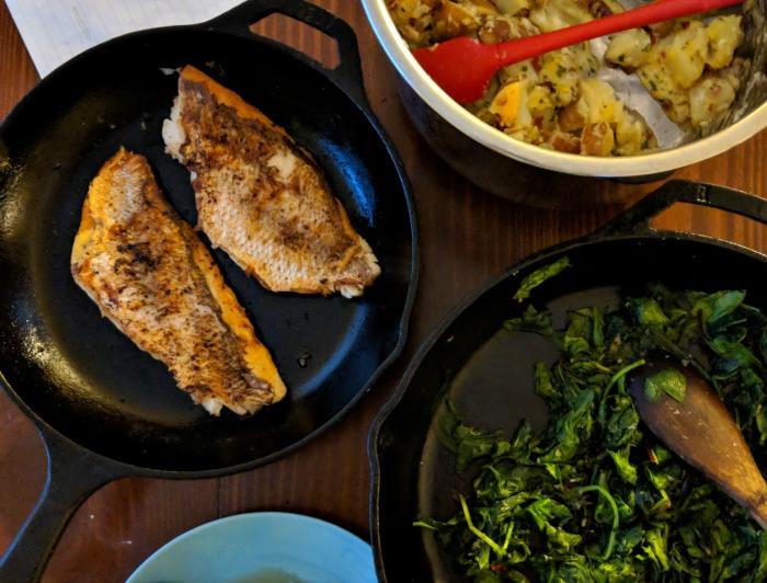 pan fish dinner