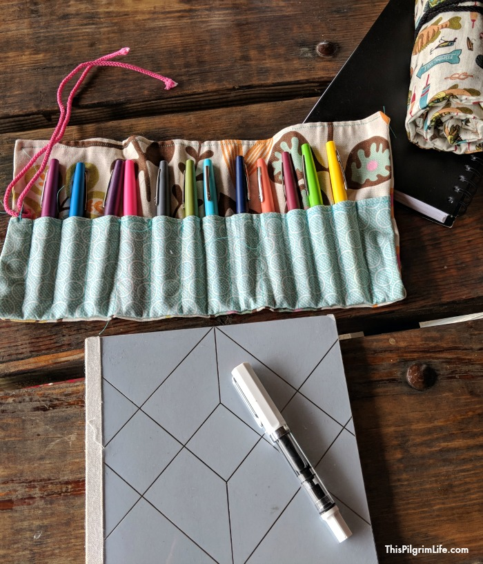 Keep pens, colored pencils, and crayons organized and easy to use with a fun pencil roll-up! Find both video and written instructions for this simple sewing project.