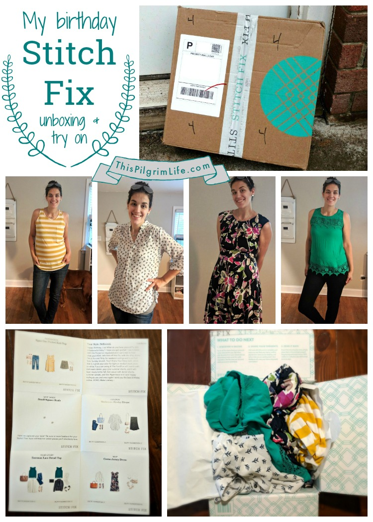 My Birthday Stitch Fix Box
