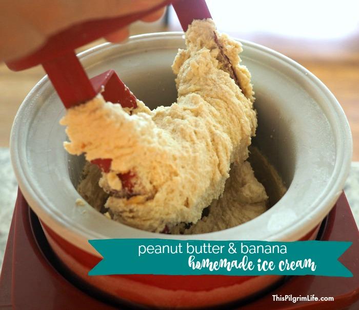 Peanut Butter & Banana Ice Cream