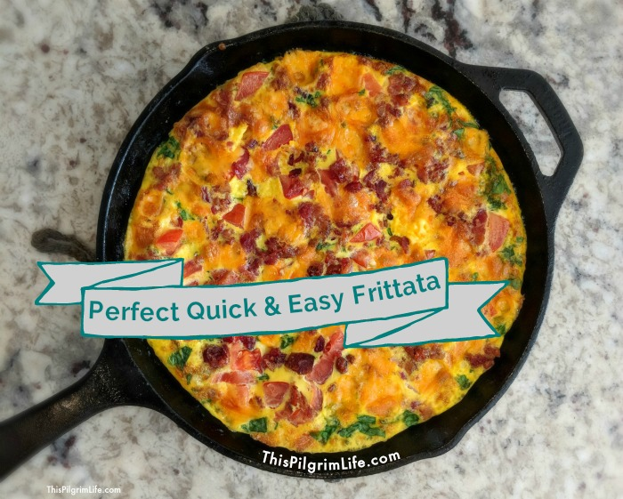 This easy frittata is amazingly delicious and simple to make! It's perfect for adding a variety of veggies and extra protein to your breakfast routine!