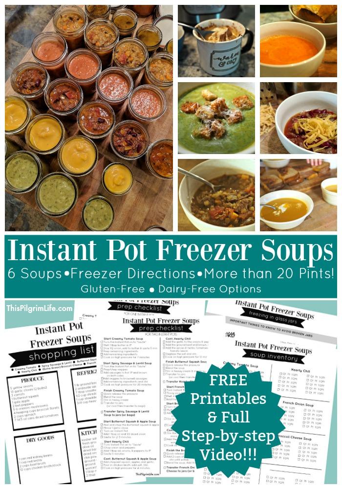 Instant Pot Freezer Soups!!