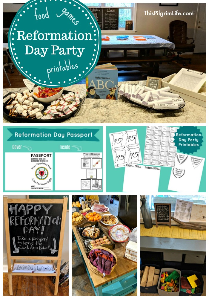 Celebrate the Reformation and the end of the Dark Ages with a fun Reformation Day party! We had a great time with friends, fun activities, and yummy food!