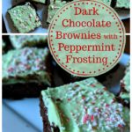 Homemade (from scratch) dark chocolate brownies with a sweet peppermint icing. Making brownies from scratch is so easy, you'll never need to go back to the boxed mixes!