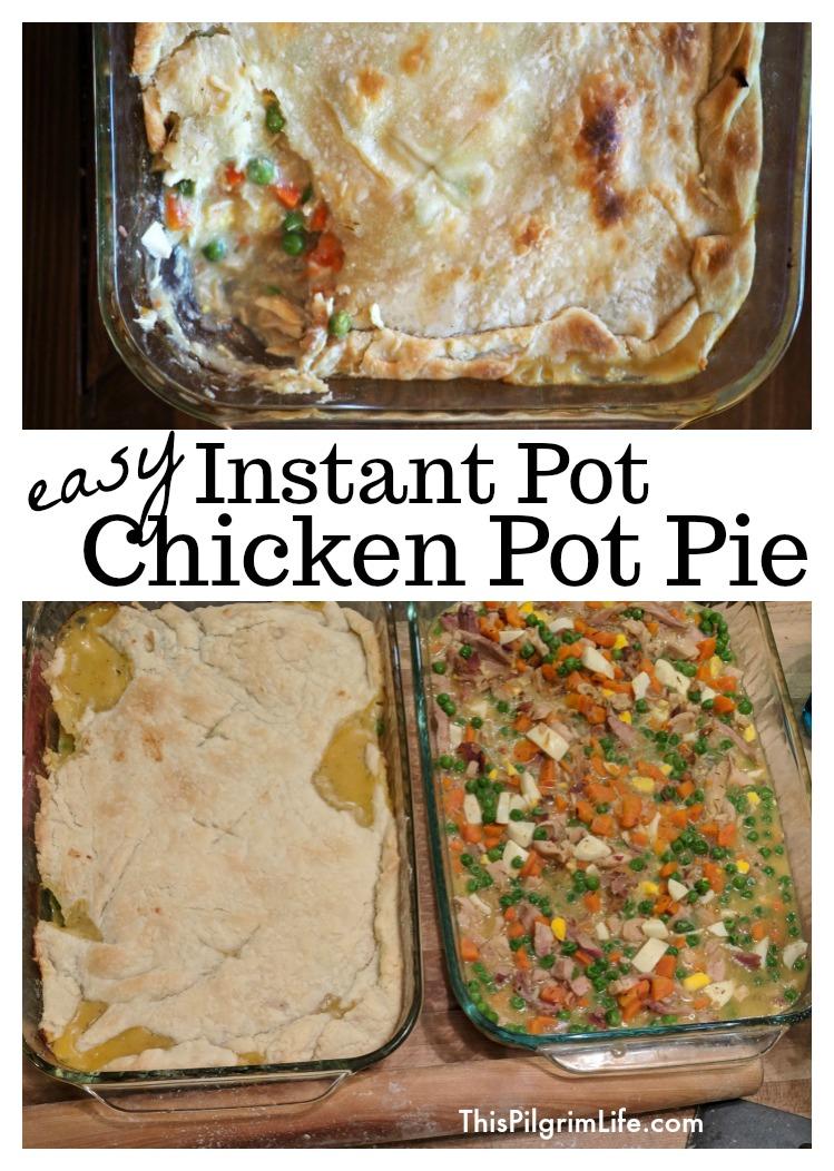 Easy Instant Pot Chicken Pot Pie