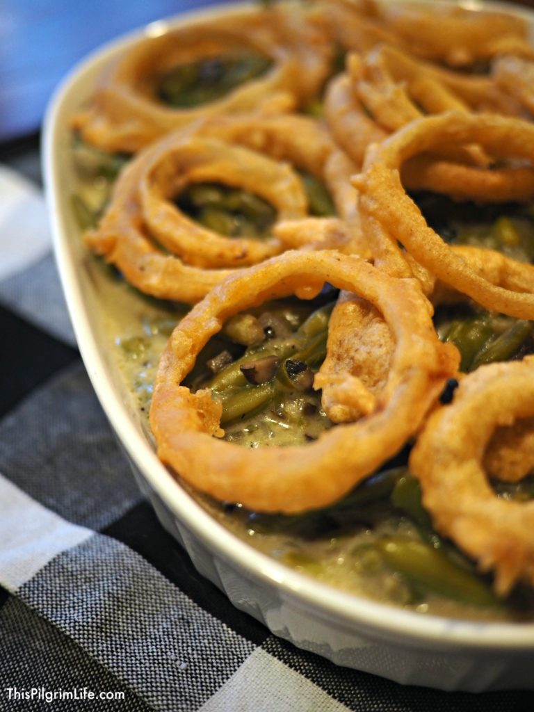 Instant Pot healthy green bean casserole is made from scratch and so easy and delicious-- you won't be able to go back to the old way of making it!