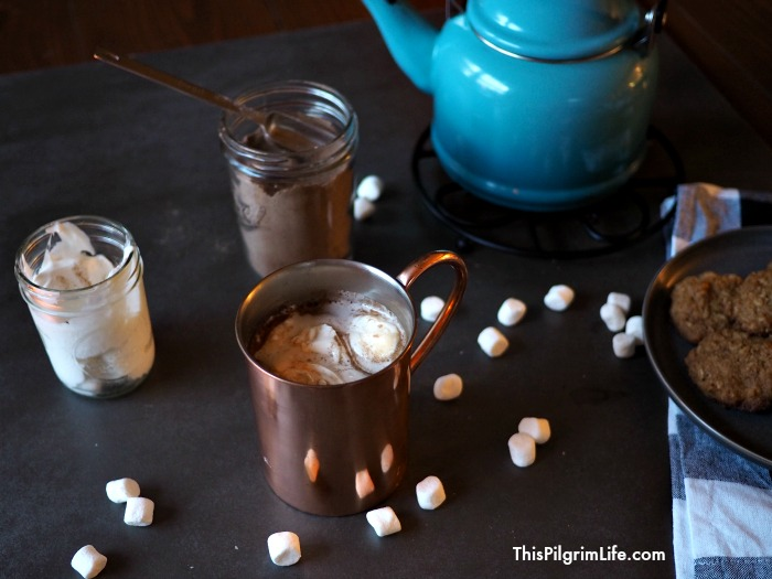 You can make this homemade hot chocolate mix in five minutes or less, and enjoy rich and creamy hot chocolate all season long that is naturally sweetened and free of unnecessary additives!