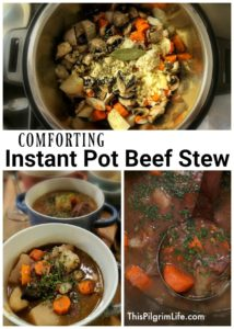 There's not much more comforting than a bowl of savory beef stew! This Instant Pot beef stew is so satisfying and delicious, you'll be surprised at how quick and easy it is to make!