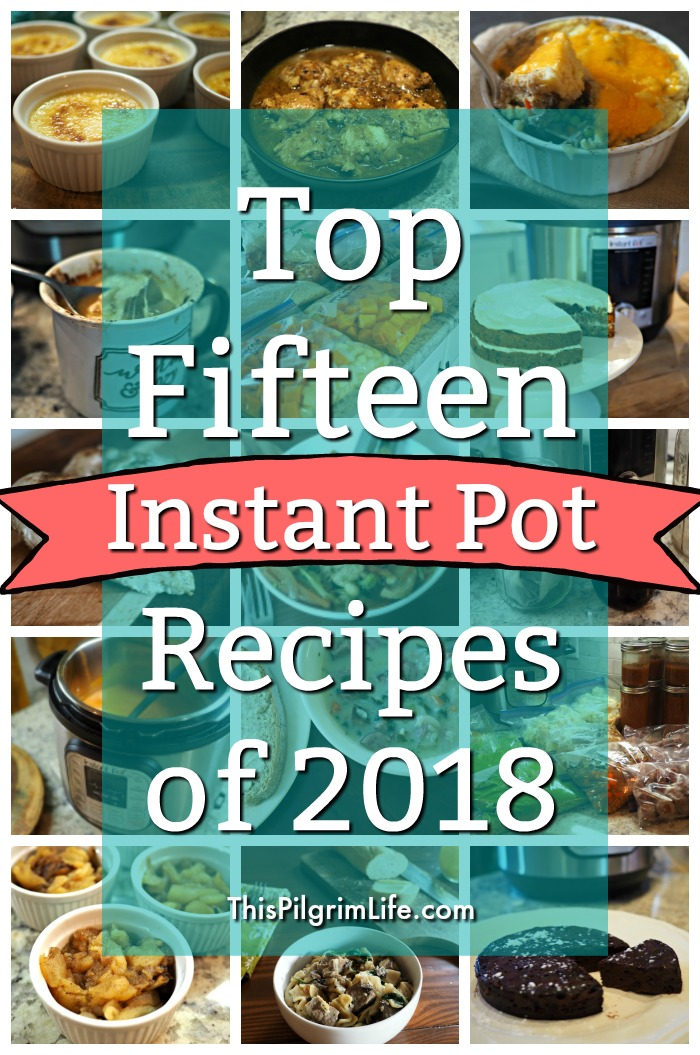 Top Fifteen Instant Pot Recipes of 2018