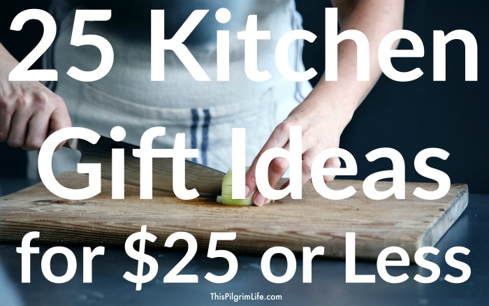Check out this list of 25 kitchen gift ideas for everyone on your list-- the bakers, the home chefs, the kid cooks, and even those who just like their kitchen to look nice without worrying too much about function! Plus, everything is $25 or less!